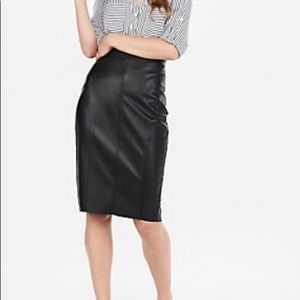 Dresses & Skirts - Who WhatWear Black Faux Leather Skirts